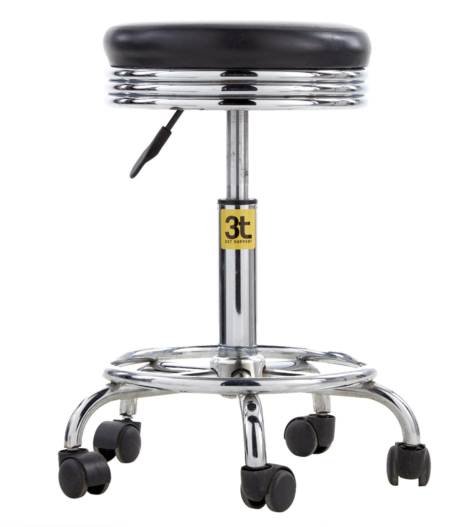 Banquinho p/ modelo c/ rodas e regulagem de altura