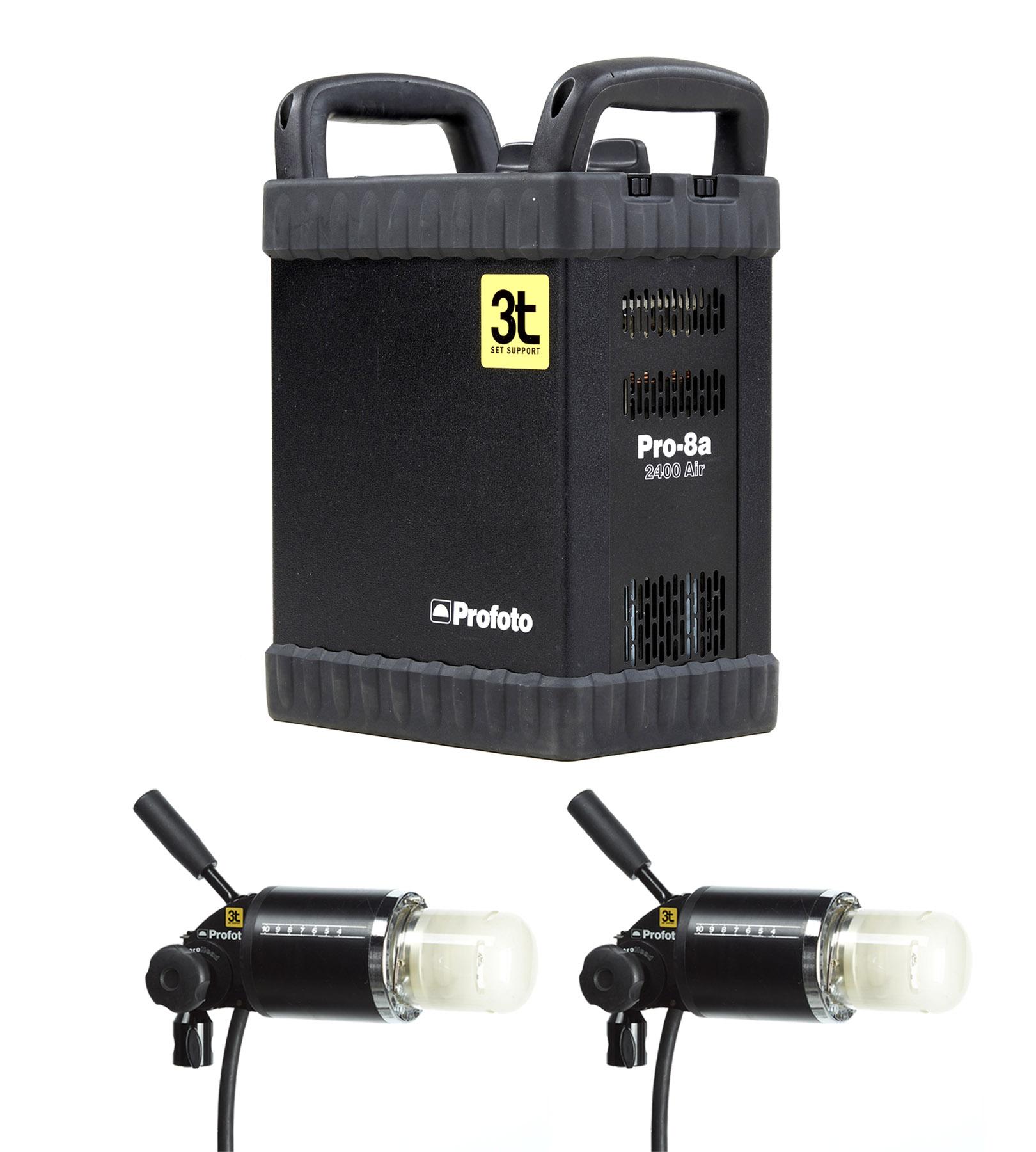 Kit 8A Air gerador Profoto 2400w + 2 ProHead Plus
