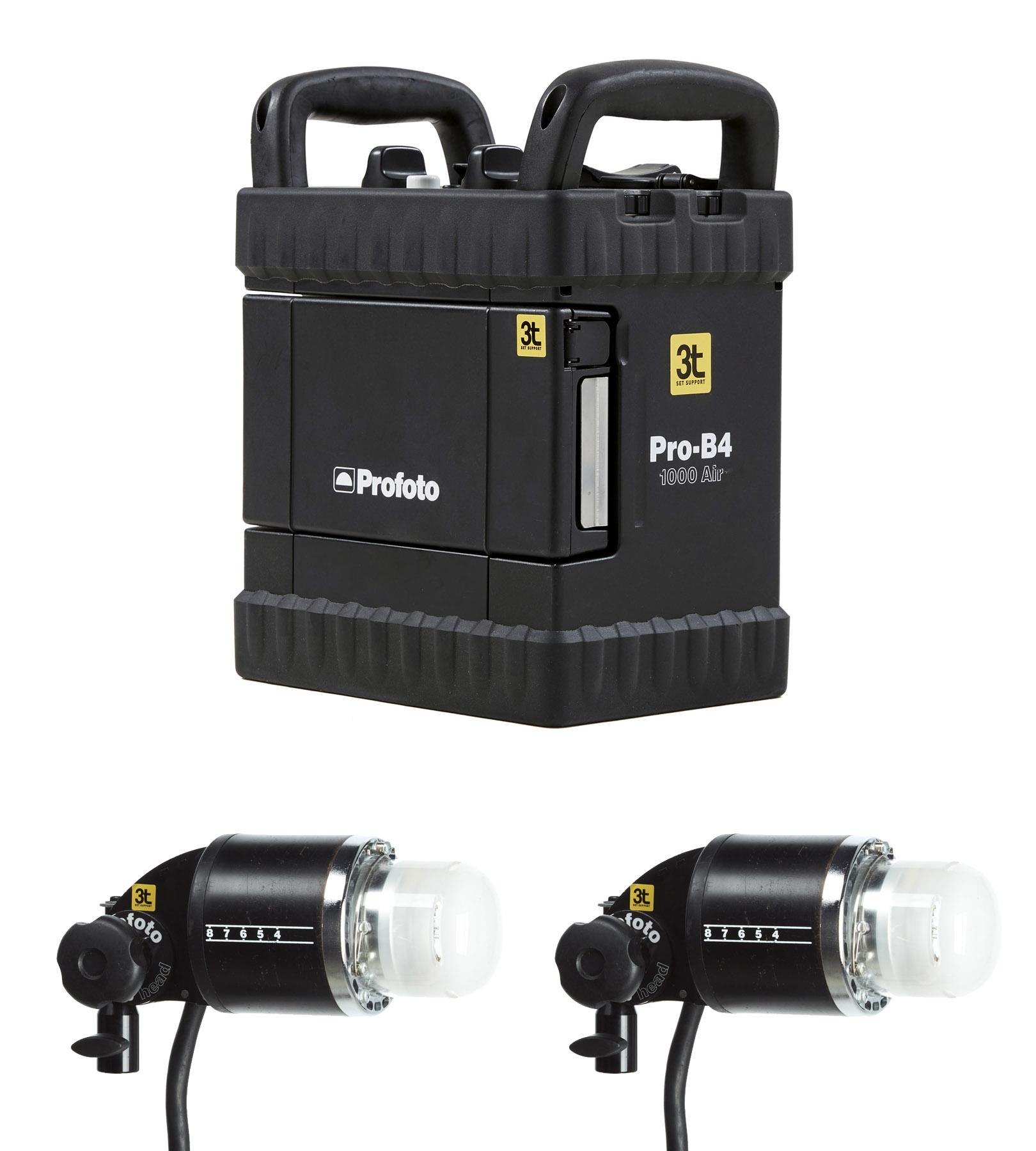Kit B4 Air gerador Profoto 1000w + 2 Pro-B head Plus