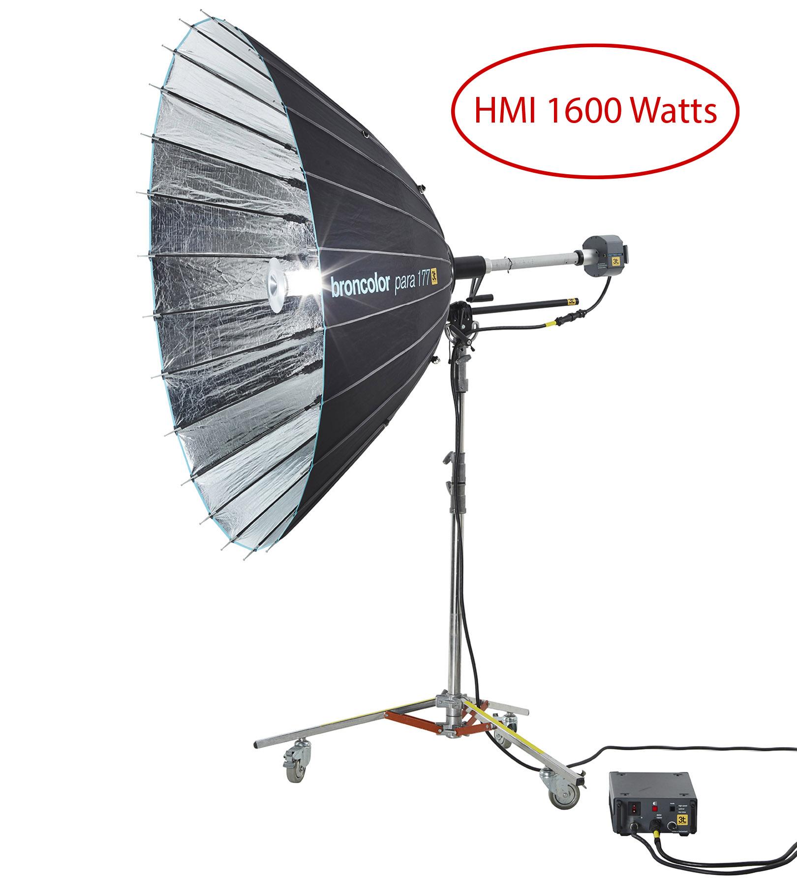 HMI Broncolor 1600w com refletor PARA 177 FT